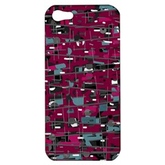 Magenta Decorative Design Apple Iphone 5 Hardshell Case by Valentinaart