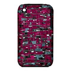 Magenta Decorative Design Apple Iphone 3g/3gs Hardshell Case (pc+silicone) by Valentinaart