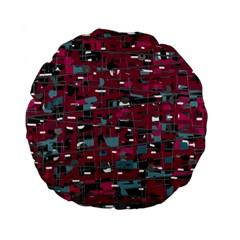 Magenta Decorative Design Standard 15  Premium Flano Round Cushions by Valentinaart