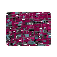 Magenta Decorative Design Double Sided Flano Blanket (mini)  by Valentinaart