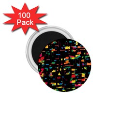 Playful Colorful Design 1 75  Magnets (100 Pack)  by Valentinaart