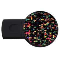 Playful Colorful Design Usb Flash Drive Round (2 Gb)  by Valentinaart