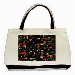 Playful Colorful Design Basic Tote Bag by Valentinaart