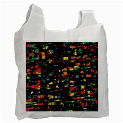 Playful Colorful Design Recycle Bag (two Side)  by Valentinaart