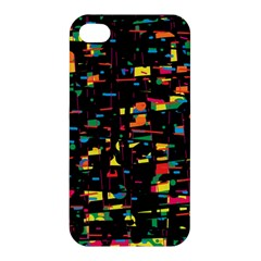 Playful Colorful Design Apple Iphone 4/4s Hardshell Case by Valentinaart