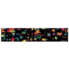 Playful Colorful Design Flano Scarf (small) by Valentinaart