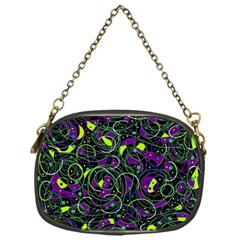 Purple And Yellow Decor Chain Purses (one Side)  by Valentinaart