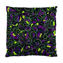Purple And Yellow Decor Standard Cushion Case (two Sides) by Valentinaart