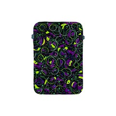 Purple And Yellow Decor Apple Ipad Mini Protective Soft Cases by Valentinaart