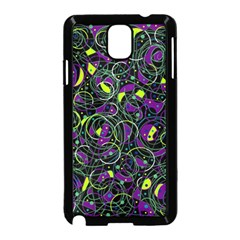 Purple And Yellow Decor Samsung Galaxy Note 3 Neo Hardshell Case (black) by Valentinaart