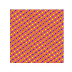 Vibrant Retro Diamond Pattern Small Satin Scarf (square) by DanaeStudio
