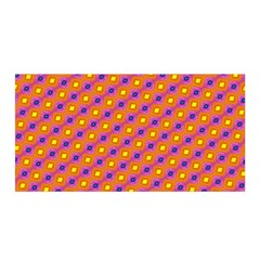 Vibrant Retro Diamond Pattern Satin Wrap by DanaeStudio