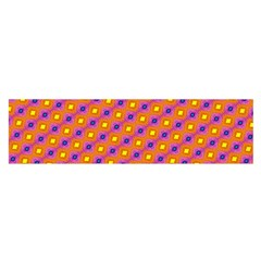 Vibrant Retro Diamond Pattern Satin Scarf (oblong) by DanaeStudio