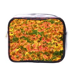 Helenium Flowers And Bees Mini Toiletries Bags by GiftsbyNature