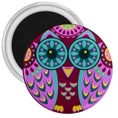 Owl 3  Magnets by olgart