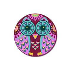 Owl Magnet 3  (round) by olgart