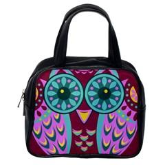 Owl Classic Handbags (one Side)