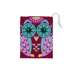Owl Drawstring Pouches (Small)  by olgart