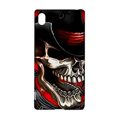 Confederate Flag Usa America United States Csa Civil War Rebel Dixie Military Poster Skull Sony Xperia Z3+ by Zeze