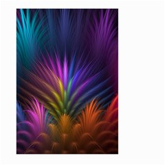 Colored Rays Symmetry Feather Art Large Garden Flag (Two Sides) by Zeze