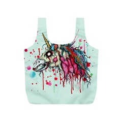 Zombie Unicorn Full Print Recycle Bags (s)  by lvbart