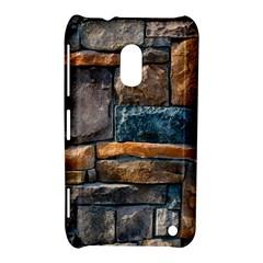 Brick Wall Pattern Nokia Lumia 620 by Zeze