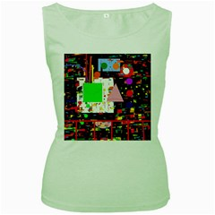 Colorful Facroty Women s Green Tank Top by Valentinaart