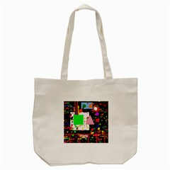 Colorful Facroty Tote Bag (cream) by Valentinaart