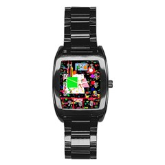 Colorful Facroty Stainless Steel Barrel Watch by Valentinaart