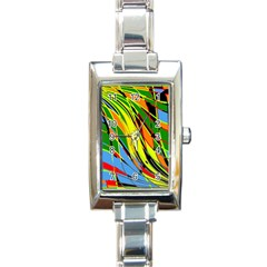 Jungle Rectangle Italian Charm Watch by Valentinaart