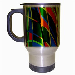 Jungle Travel Mug (silver Gray) by Valentinaart