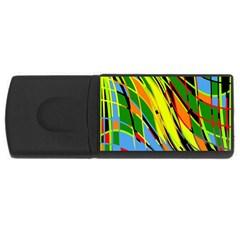 Jungle Usb Flash Drive Rectangular (4 Gb)  by Valentinaart