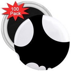 Black And White Moonlight 3  Magnets (100 Pack) by Valentinaart