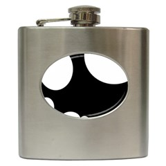 Black And White Moonlight Hip Flask (6 Oz) by Valentinaart