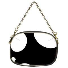 Black And White Moonlight Chain Purses (one Side)  by Valentinaart