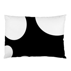 Black And White Moonlight Pillow Case by Valentinaart
