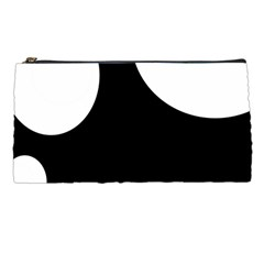 Black And White Moonlight Pencil Cases by Valentinaart