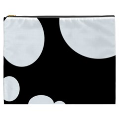 Black And White Moonlight Cosmetic Bag (xxxl)  by Valentinaart