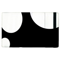 Black and white moonlight Apple iPad 3/4 Flip Case by Valentinaart