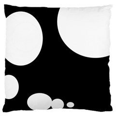 Black And White Moonlight Large Flano Cushion Case (one Side) by Valentinaart