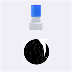 Digital Abstraction Rubber Round Stamps (small) by Valentinaart