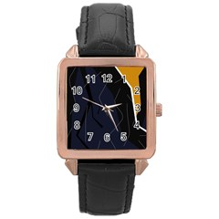 Digital Abstraction Rose Gold Leather Watch  by Valentinaart
