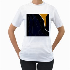 Digital Abstraction Women s T Shirt (white)  by Valentinaart