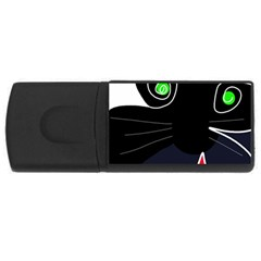 Big Cat Usb Flash Drive Rectangular (4 Gb)  by Valentinaart