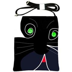 Big Cat Shoulder Sling Bags by Valentinaart