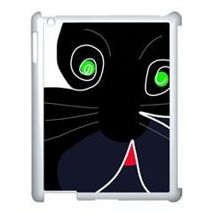 Big Cat Apple Ipad 3/4 Case (white) by Valentinaart
