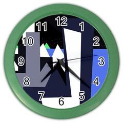 Glacier Color Wall Clocks by Valentinaart