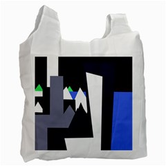 Glacier Recycle Bag (one Side) by Valentinaart