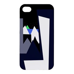 Glacier Apple Iphone 4/4s Premium Hardshell Case by Valentinaart