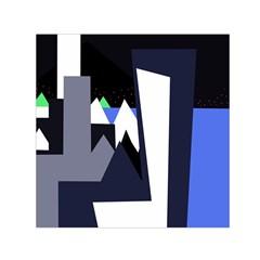Glacier Small Satin Scarf (square) by Valentinaart